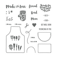 Apron of Love Photopolymer Stamp Set
