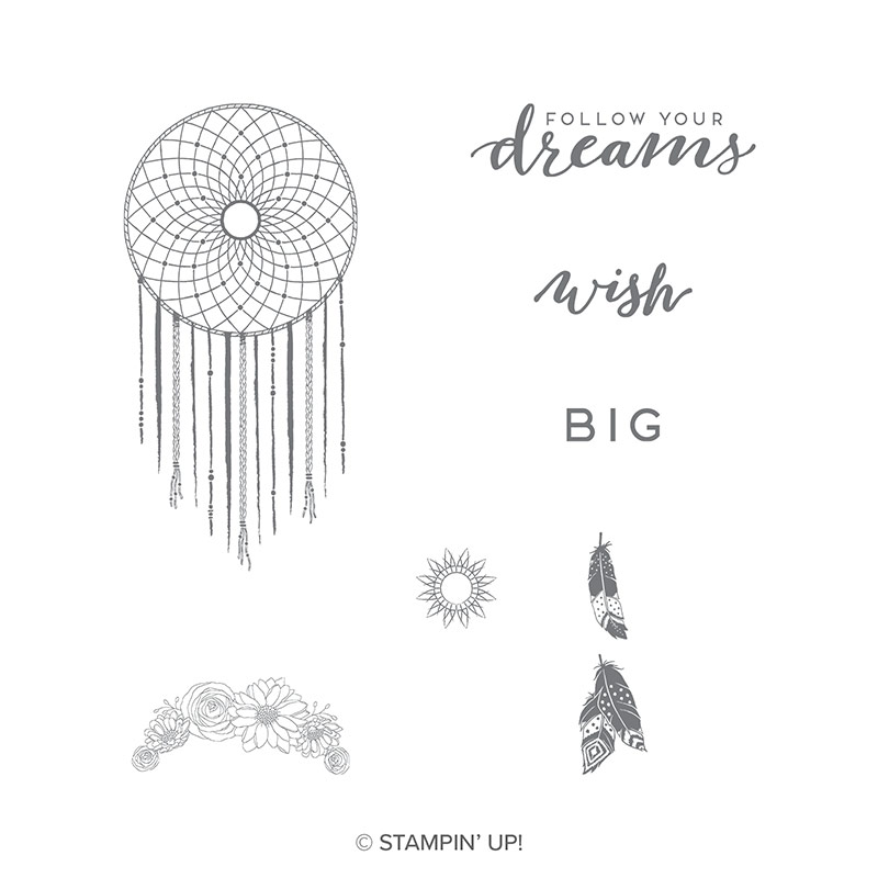 Follow Your Dreams Clear Mount Stamp Set By Stampin Up