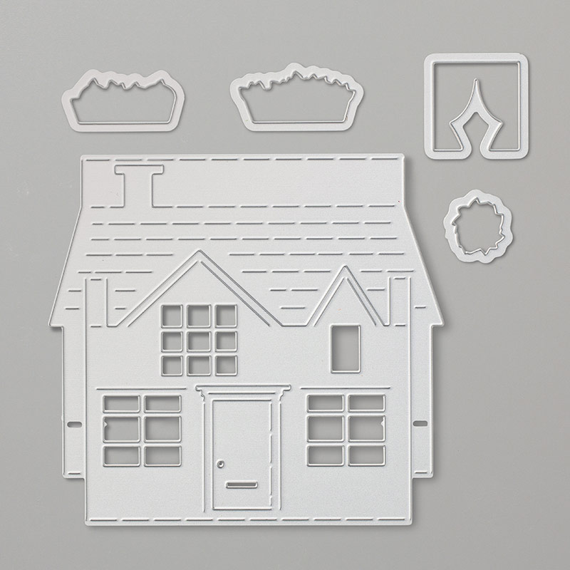 pop up house thinlits dies by stampin 39 up. Black Bedroom Furniture Sets. Home Design Ideas