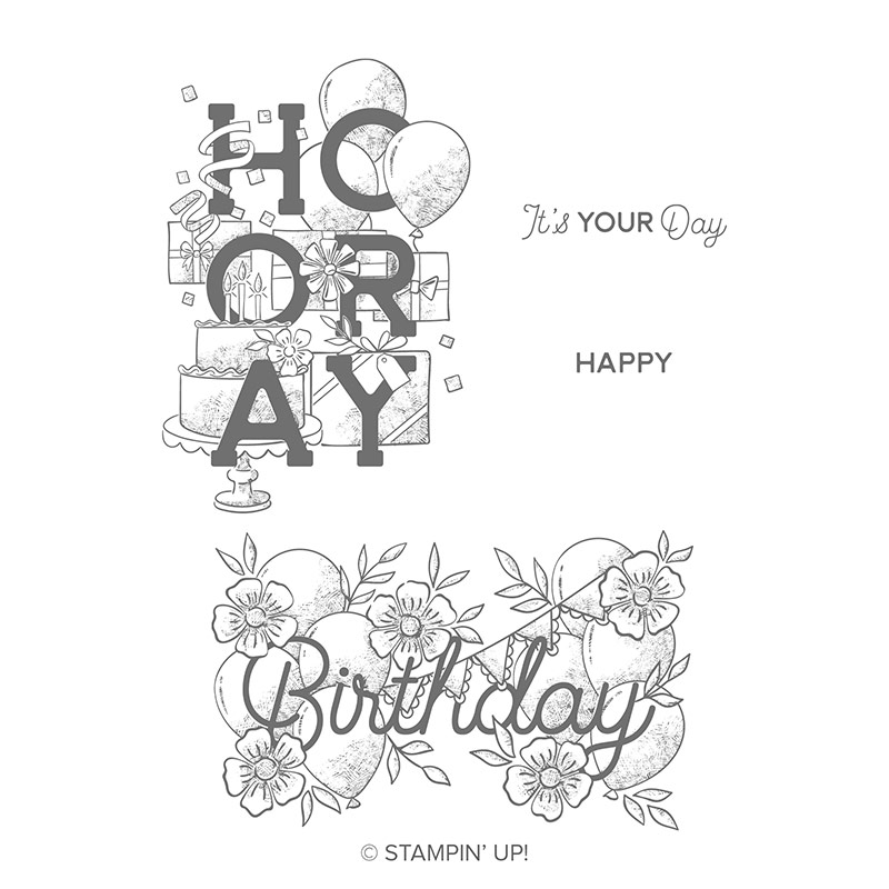 Birthday Statements Cling Stamp Set By Stampin Up