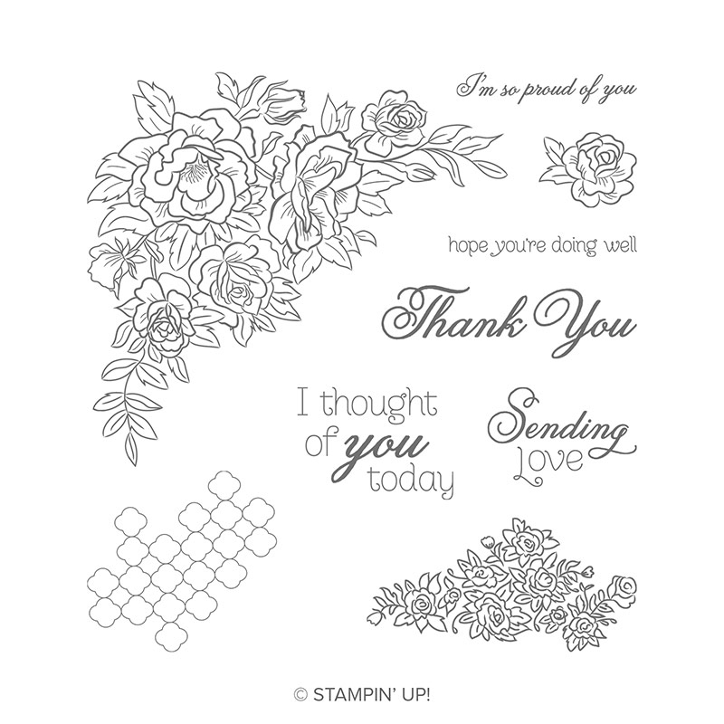 Climbing Roses Cling Stamp Set By Stampin Up