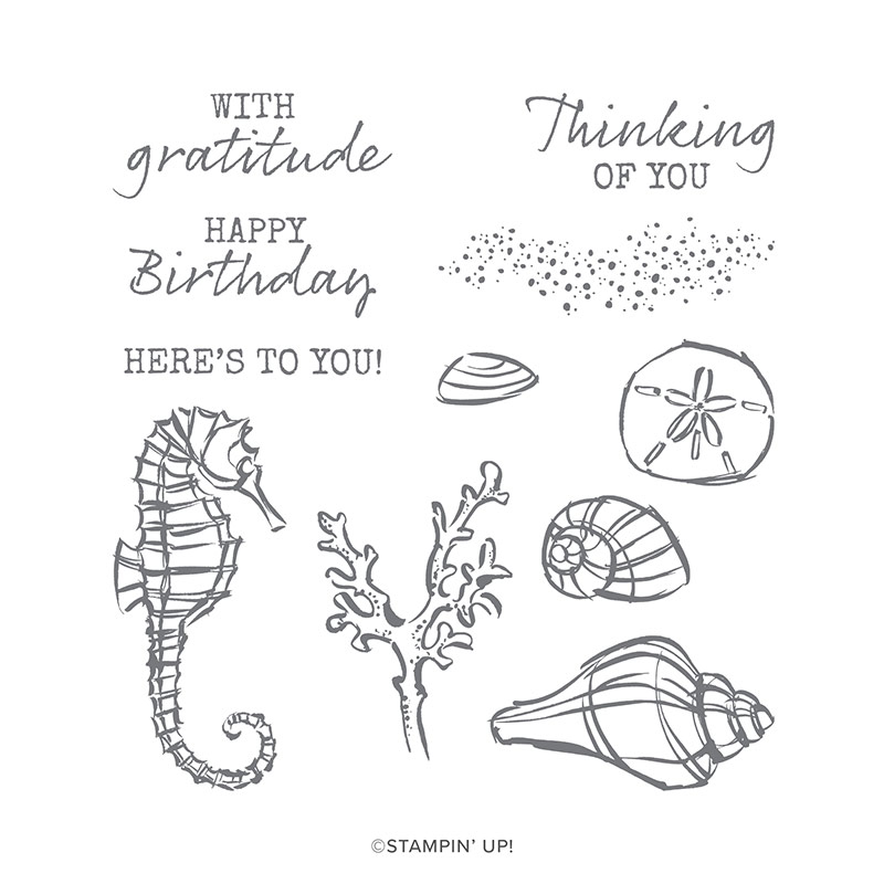 SEASIDE NOTIONS CLING STAMP SET by Stampin' Up!