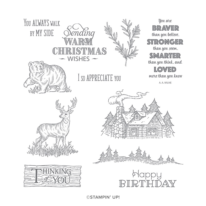 Rustic Retreat Cling Stamp Set By Stampin Up